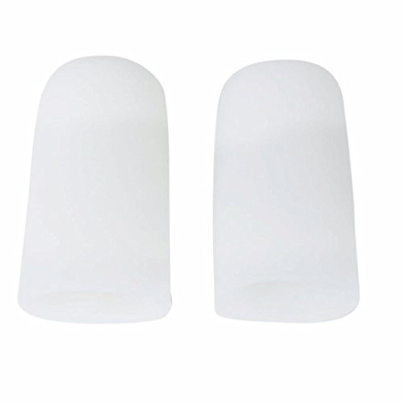 黒くするサンダルトークAMAA 足指 保護キャップ つま先 プロテクター 足先のつめ 保護キャップ シリコン S M Lサイズ 1ペア (M)