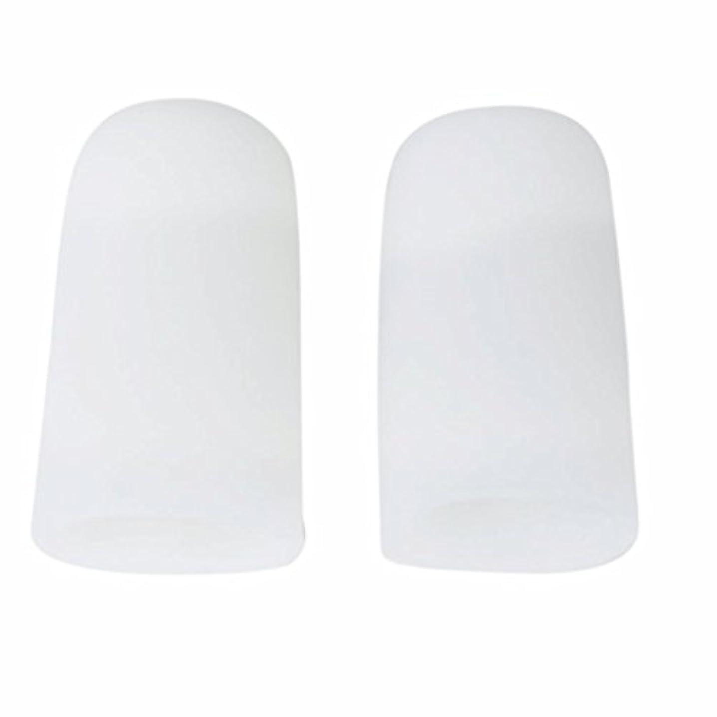 毒性ゆり不名誉なAMAA 足指 保護キャップ つま先 プロテクター 足先のつめ 保護キャップ シリコン S M Lサイズ 1ペア (M)