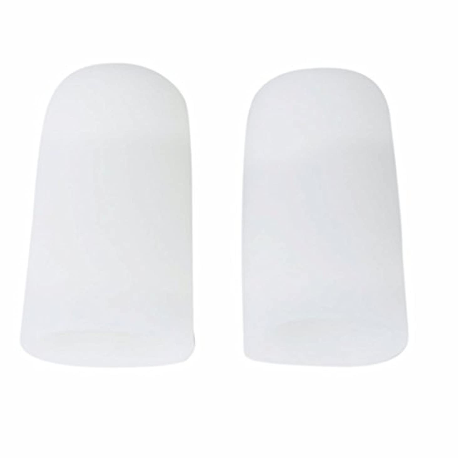 ウナギバングラデシュヒューズAMAA 足指 保護キャップ つま先 プロテクター 足先のつめ 保護キャップ シリコン S M Lサイズ 1ペア (M)