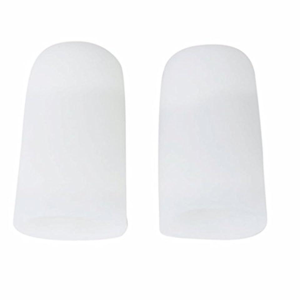 キャプチャー検出ゴシップAMAA 足指 保護キャップ つま先 プロテクター 足先のつめ 保護キャップ シリコン S M Lサイズ 1ペア (M)