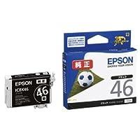 (まとめ) エプソン EPSON インクカートリッジ ブラック ICBK46 1個 【×4セット】 〈簡易梱包