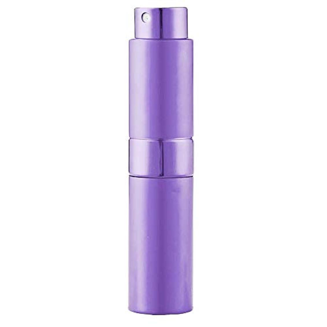 Ladygogo 香水アトマイザーセット 回転プッシュ式 スプレー ボトル 香水スプレー 詰め替え 持ち運び 身だしなみ 携帯用 男女兼用 (紫)