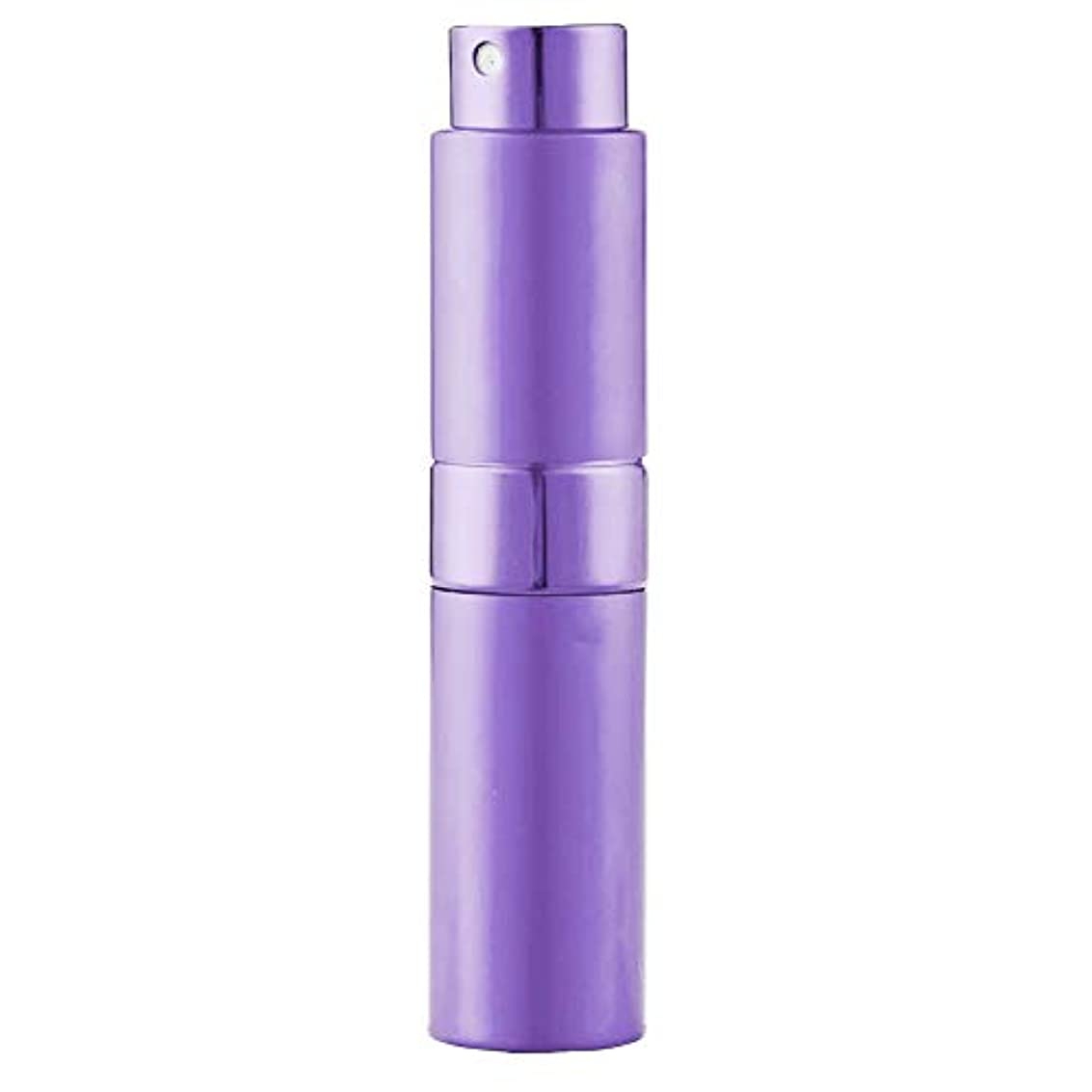 仲介者強盗ベリLadygogo 香水アトマイザーセット 回転プッシュ式 スプレー ボトル 香水スプレー 詰め替え 持ち運び 身だしなみ 携帯用 男女兼用 (紫)