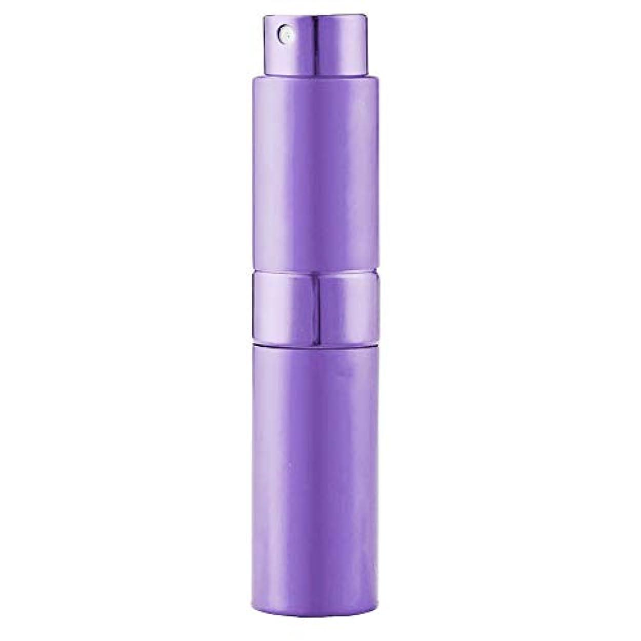 普通に見る人音楽Ladygogo 香水アトマイザーセット 回転プッシュ式 スプレー ボトル 香水スプレー 詰め替え 持ち運び 身だしなみ 携帯用 男女兼用 (紫)