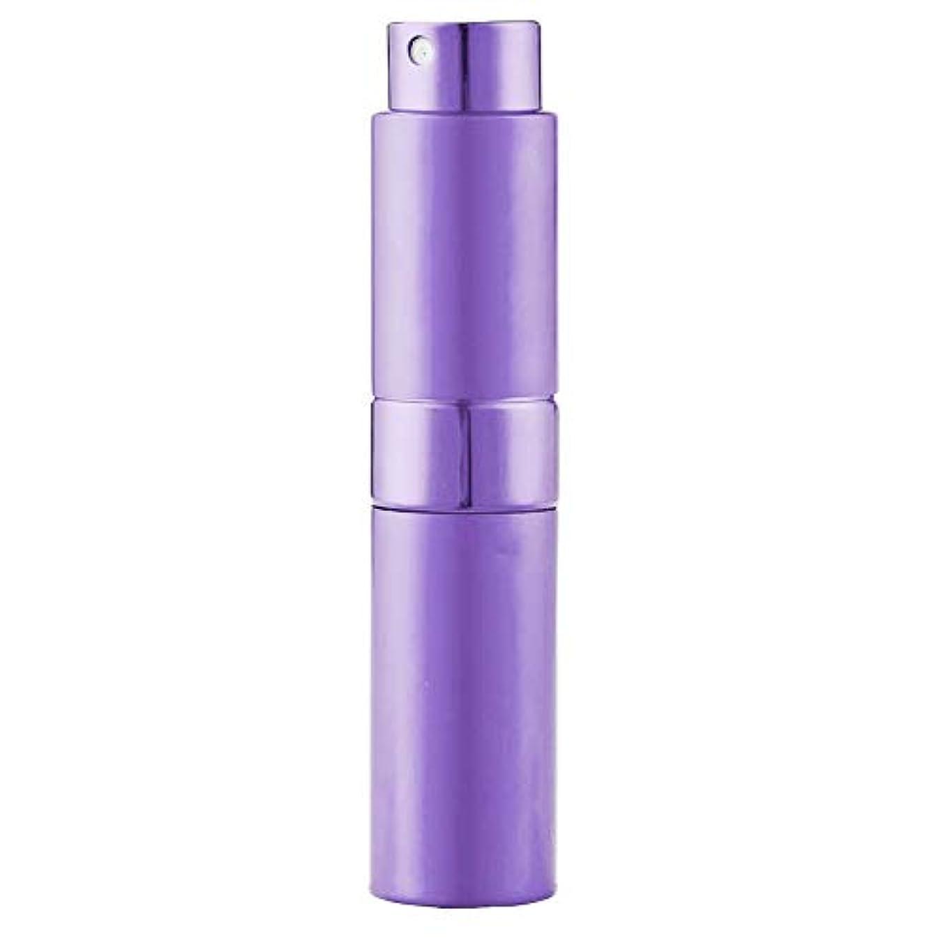 接辞追放する吸うLadygogo 香水アトマイザーセット 回転プッシュ式 スプレー ボトル 香水スプレー 詰め替え 持ち運び 身だしなみ 携帯用 男女兼用 (紫)