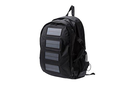 【防災・節電・普段使い】ソーラーバックパック?すぐ使える蓄電バッテリーセット? (ブラック)