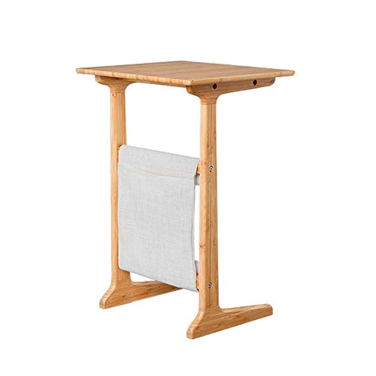 地震通訳操縦するLJHA zhuozi テーブル、ソリッドウッド製ソファ、いくつかのコーナー、いくつかのベッドルーム、ベッドサイドテーブル、バルコニー、コーヒーテーブル(白、竹原色) (色 : A)