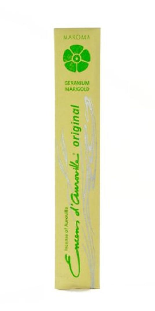 期間許す筋Maroma Incense Encens d 'aurovilleゼラニウムMarigold 10 Sticks