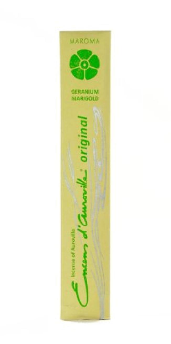 インタビュータクト悲しいことにMaroma Incense Encens d 'aurovilleゼラニウムMarigold 10 Sticks