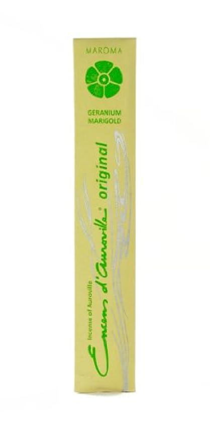 チャペル次メンターMaroma Incense Encens d 'aurovilleゼラニウムMarigold 10 Sticks