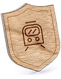 Streetcarラペルピン、木製ピンとタイタック|素朴な、ミニマルGroomsmenギフト、ウェディングアクセサリー