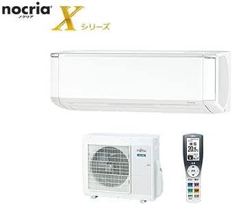 富士通ゼネラル DUAL BLASTER『nocria(ノクリア) Xシリーズ』エアコン(おもに8畳)(ホワイト) AS-X25H-W