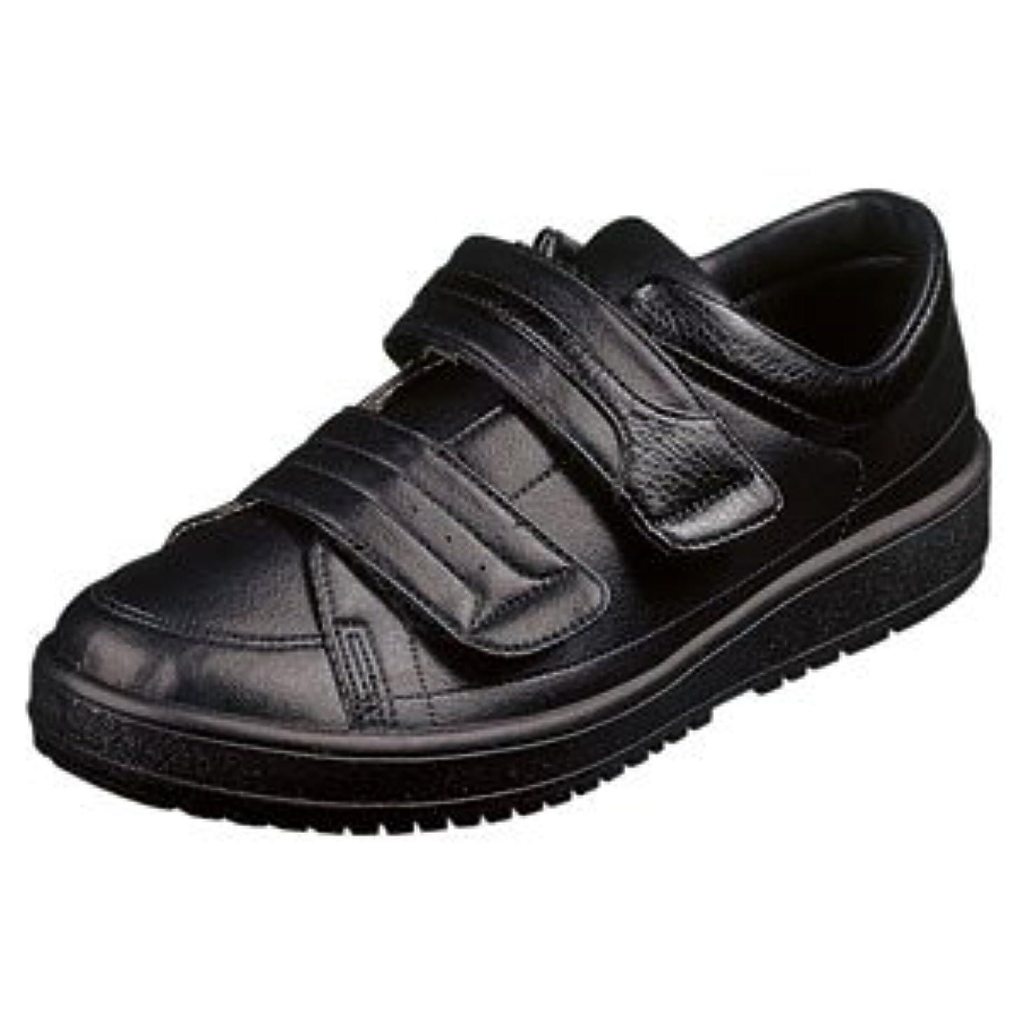 改修する勉強する大理石[ムーンスター] スニーカー (Vステップ04) メンズ 介護靴 リハビリ 装具対応 シューズ 靴 お取り寄せ商品ブラック27.0cm