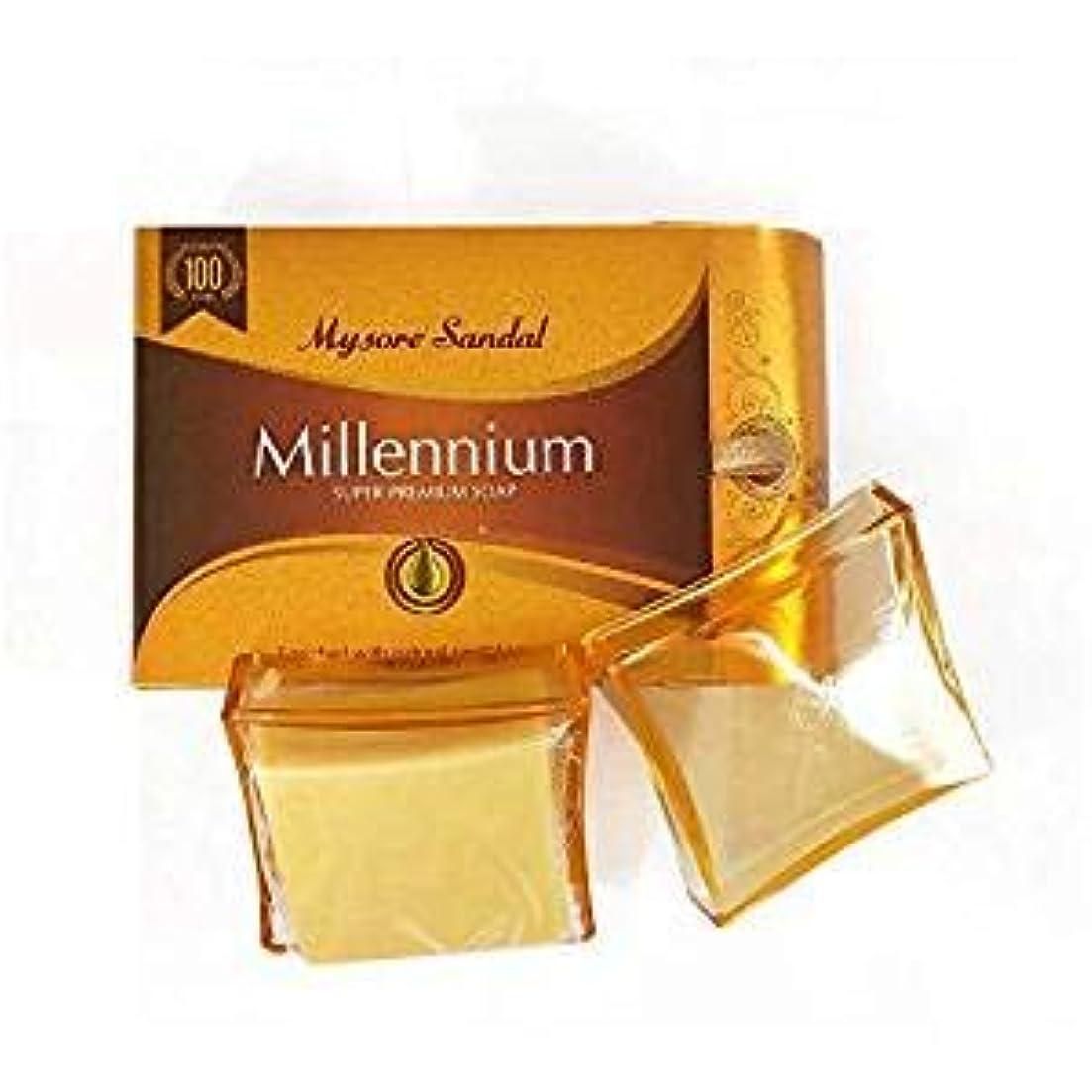 繁雑蓋冷笑するマイソール サンダル ミレニアム スーパー プレミアムソープ 150gX2Set mysore Super Premium Soap