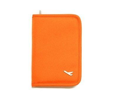 海外旅行に!! パスポートケース トラベルグッズ 便利 グッズ (オレンジ)