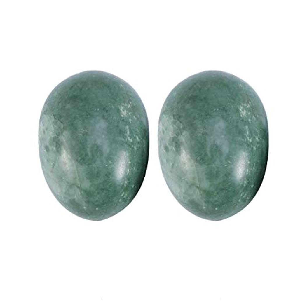 落ち着かないドラゴン死すべきSUPVOX 6本ネフライトジェイドヨニ卵ジェイドヨニマッサージストーンチャクラ骨盤筋肉癒しの卵マッサージKegelエクササイズ(Lushan Jade Egg)
