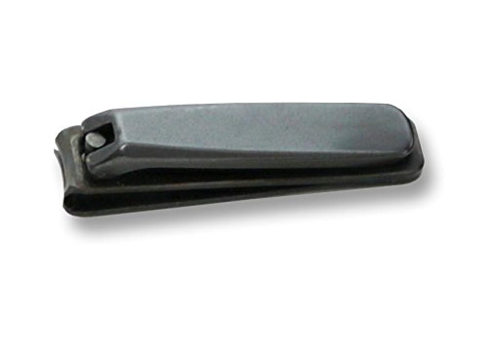 テクスチャー非武装化アグネスグレイKD-026 関の刃物 ブラック爪切 大 カバー付