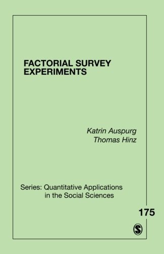Factorial Survey Experiments (Quantitative Applications in the Social Sciences) by Katrin Auspurg Thomas Hinz(2014-12-12)