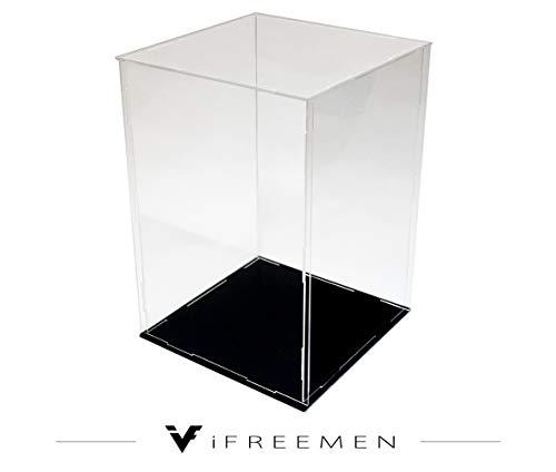 iFREEMEN 【 アクリル 】 コレクションケース フィギュアケース ディスプレイケース (15x15x25cm, 台座黒)