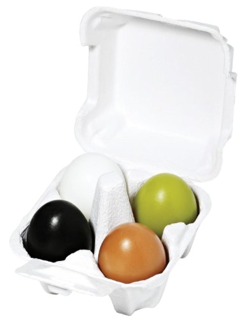 カウント洗練トチの実の木HolikaHolika すべすべソープ エッグソープ 4種セット