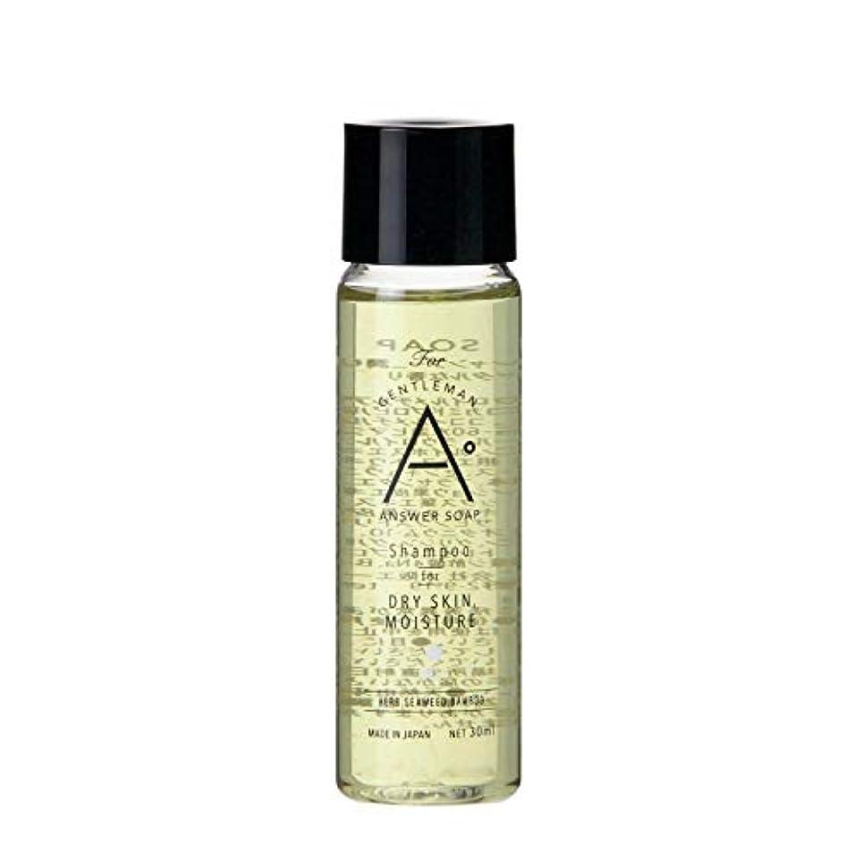セミナー臭い継続中ANSWER SOAP シャンプー トラベルサイズ 30mL【 お試し 頭皮ケア スカルプ 男性用 メンズ 】 (潤い)