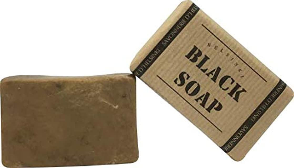 擬人艶サイドボード89028 The BLACK SOAP (ブラックソープ) 80g 【Helsinki Soap Factory (ヘルシンキソープファクトリー)】