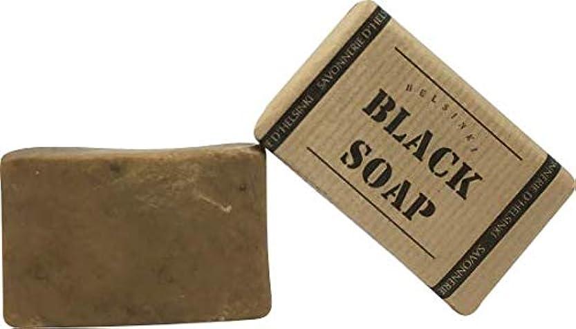 光沢のある蒸ブラシ89028 The BLACK SOAP (ブラックソープ) 80g 【Helsinki Soap Factory (ヘルシンキソープファクトリー)】