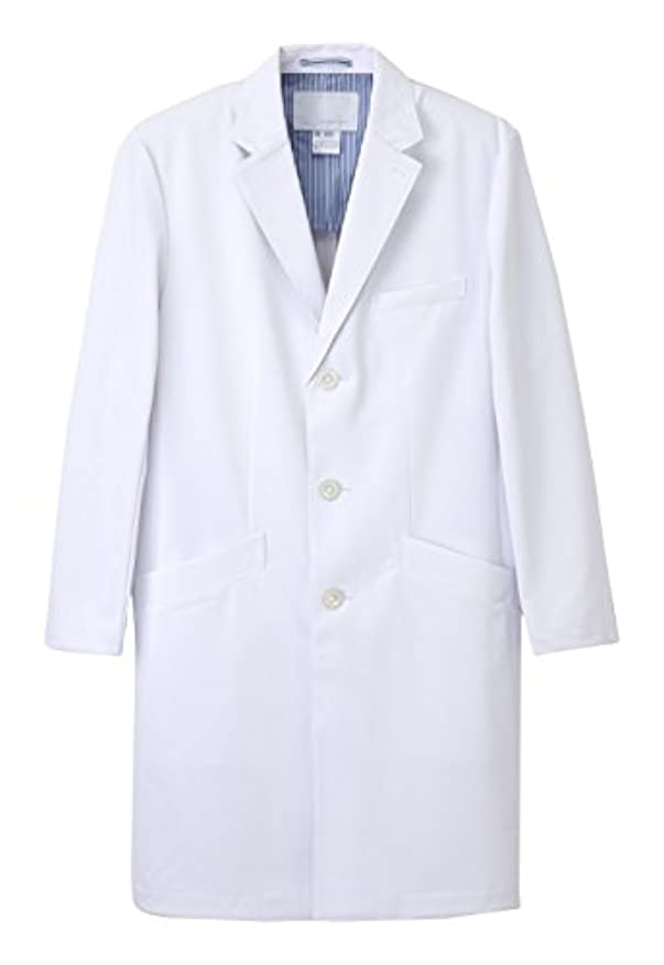 ドメイン代表する小学生医療用ユニフォーム ナガイレーベン 男子シングルドクターコート  SD-3000(L)ホワイト