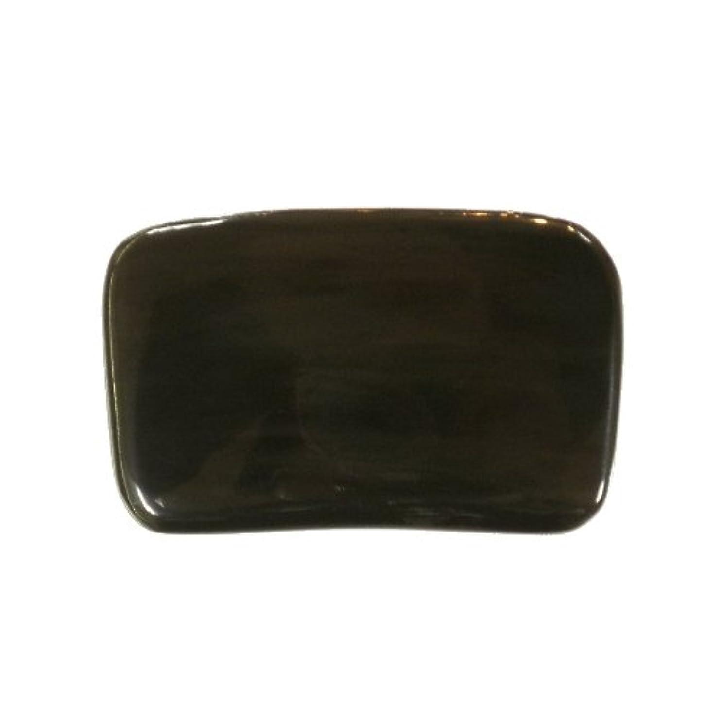 絶壁上流の舗装かっさ プレート 厚さが選べる ヤクの角(水牛の角) EHE267SP 長方形小 特級品 特厚(8ミリ程度[100円加算])