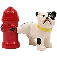 手描きStoneware犬& Fire Hydrant Shaker Set – Set of 6