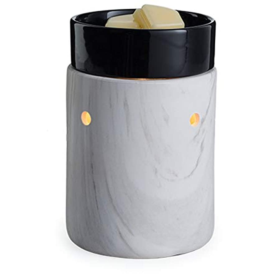 パーフェルビッド枯れる数Candle Warmers Etc。イルミネーションFragrance Warmer、ホワイト大理石