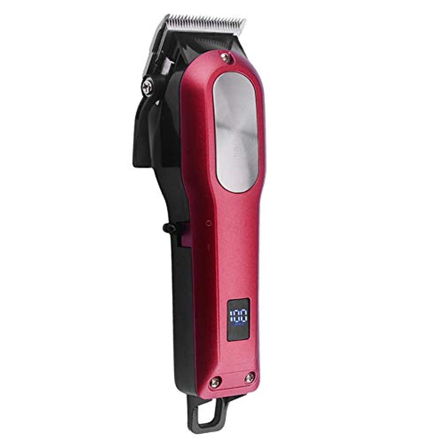 医薬魔術含意COSYONALL 電動バリカン 充電式ヘアカッター レバー式バリカン プロ 0.8-2mm刈り高さ調整可能 LEDディスプレイ 4時間連続使用 ヒゲトリマー ヘアクリッパー コードレス 低騒音 切れ味抜群 散髪 セット