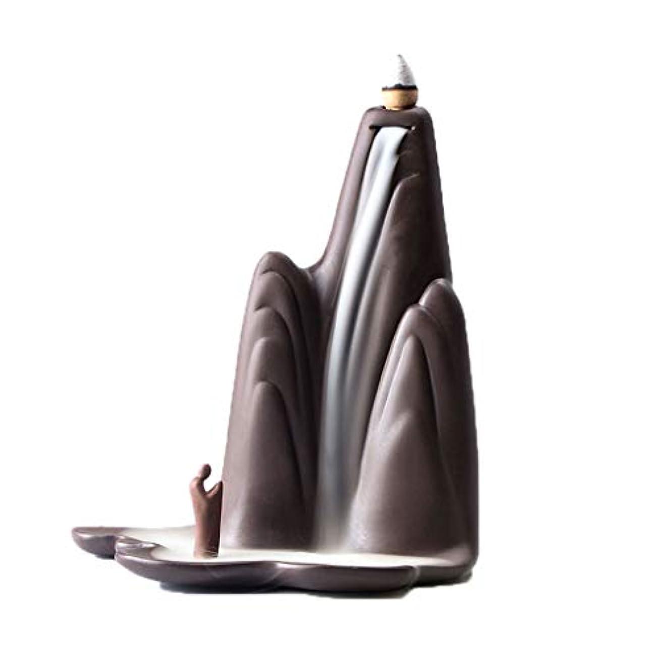 透明に真剣に規模ホームアロマバーナー レトロな懐かしい香炉紫砂香バーナー屋内茶道香バーナーアロマセラピー炉 アロマバーナー (Color : Purple sand)