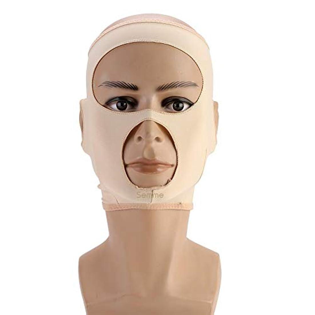 論争計算民主主義包帯を細くする顔の細くのマスク顔の二重あごの心配の減量の表面ベルト(L)