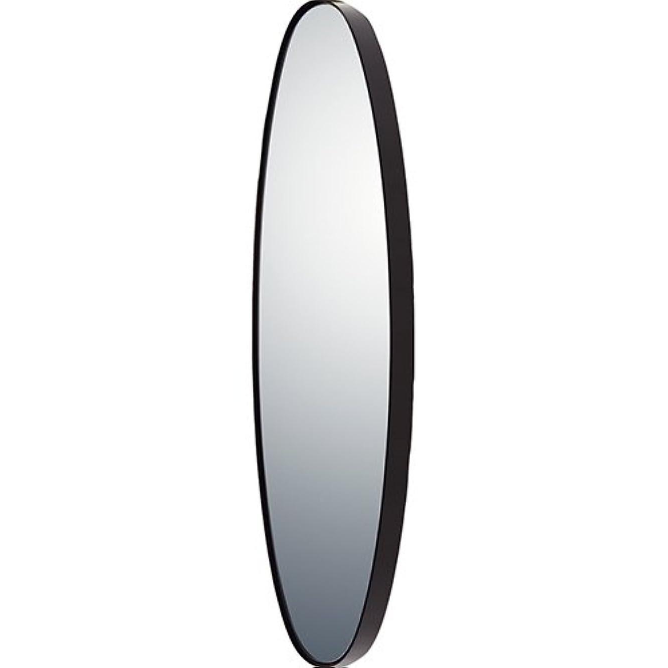 寓話クライアント準備するユーパワー ミラー?鏡 マルチ 重さ:約4kg オーバルロング グロスブラック SM-10052