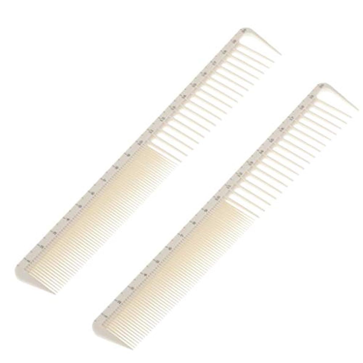 襟凝視遺跡ヘアコーム メンズ 散髪コーム カットコーム 髪くし 櫛 静電気防止 スケール付き 弾力性 耐久性 2個入り