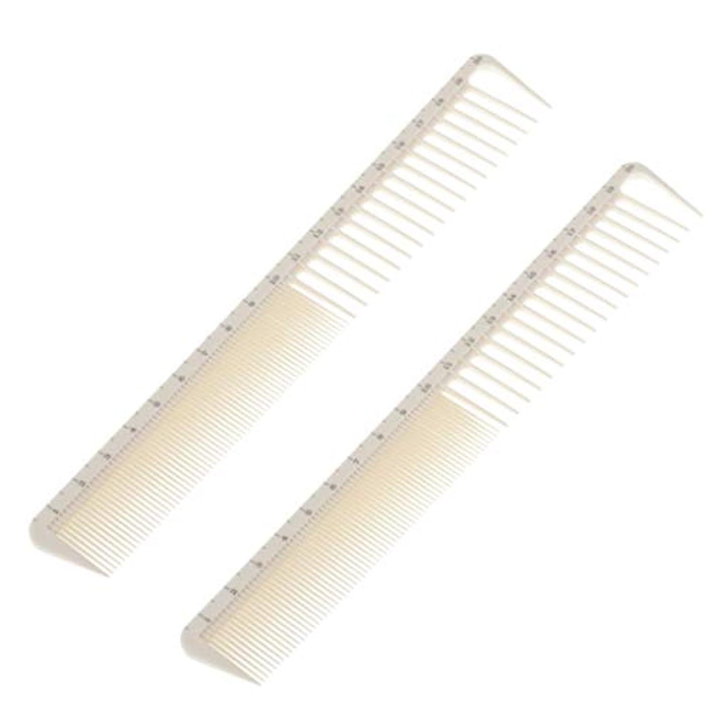 フォーマルバランス慣性ヘアコーム メンズ 散髪コーム カットコーム 髪くし 櫛 静電気防止 スケール付き 弾力性 耐久性 2個入り