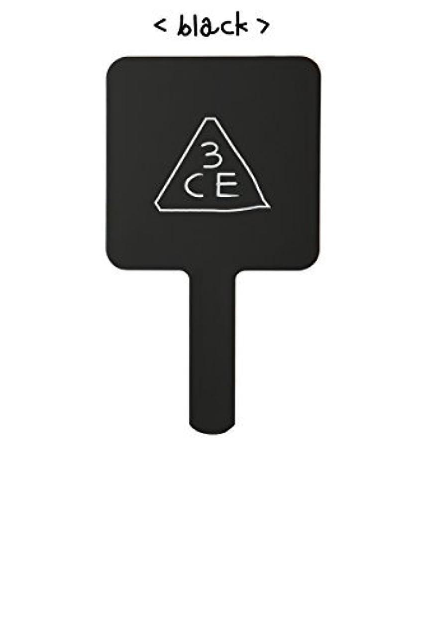 悲しい強いますボアスリーコンセプトアイズ 3CE ミニ ハンド ミラー #BLACK