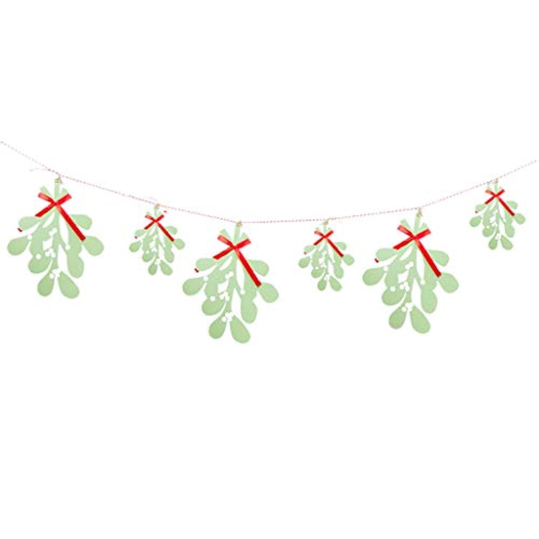 Baoblaze クリスマス バナー ガーランド リーフ 葉 写真小物 DIY 装飾