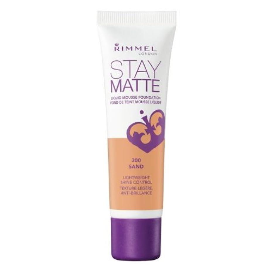 好戦的なスリップ化粧RIMMEL LONDON Stay Matte Liquid Mousse Foundation - Sand (並行輸入品)