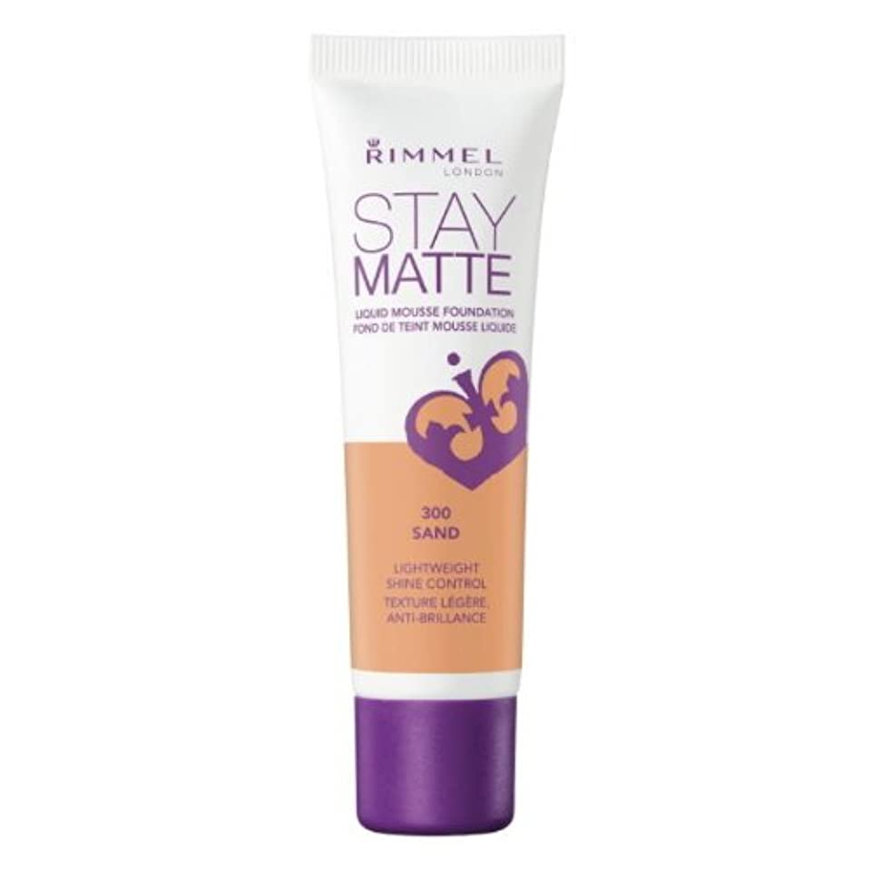 美しい略す正義RIMMEL LONDON Stay Matte Liquid Mousse Foundation - Sand (並行輸入品)