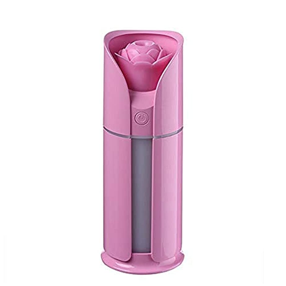 ブートアーティストピグマリオンElectrost 調節可能な散水なしの自動シャットダウンを備えた新鮮なミスト130 MLの加湿器 (色 : ピンク)