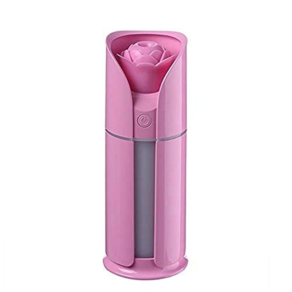 からかう手配する気分が良いElectrost 調節可能な散水なしの自動シャットダウンを備えた新鮮なミスト130 MLの加湿器 (色 : ピンク)