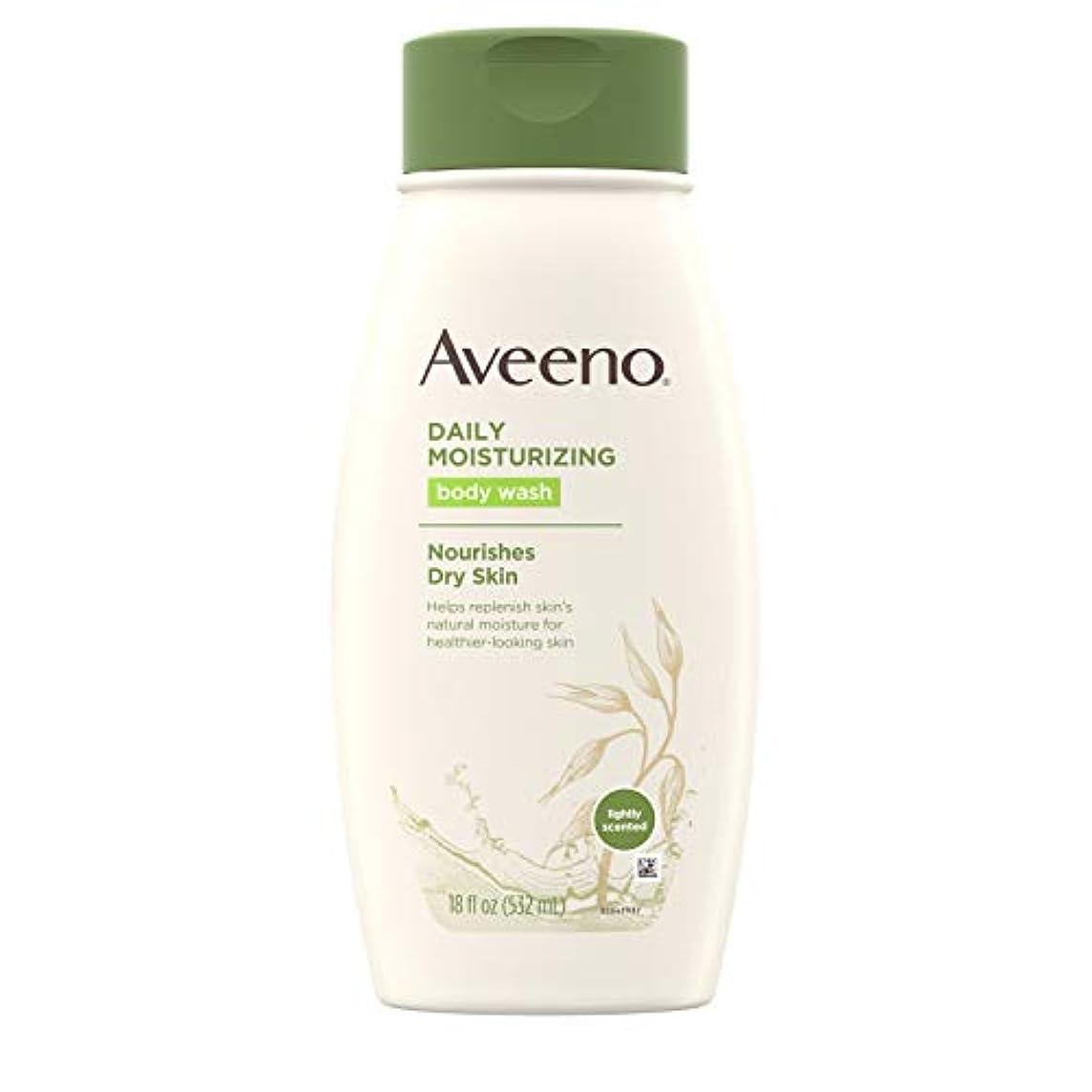 前件感情の発動機Aveeno Daily Moisturizing Body Wash - 18 Oz by Aveeno