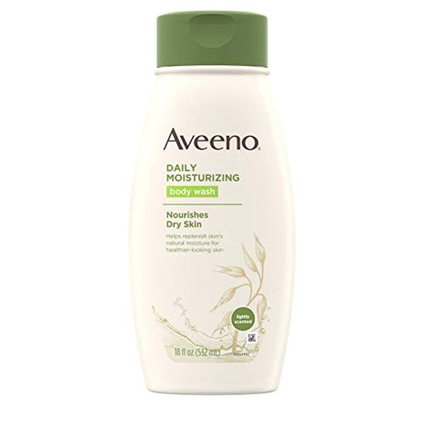 典型的な樹木色Aveeno Daily Moisturizing Body Wash - 18 Oz by Aveeno