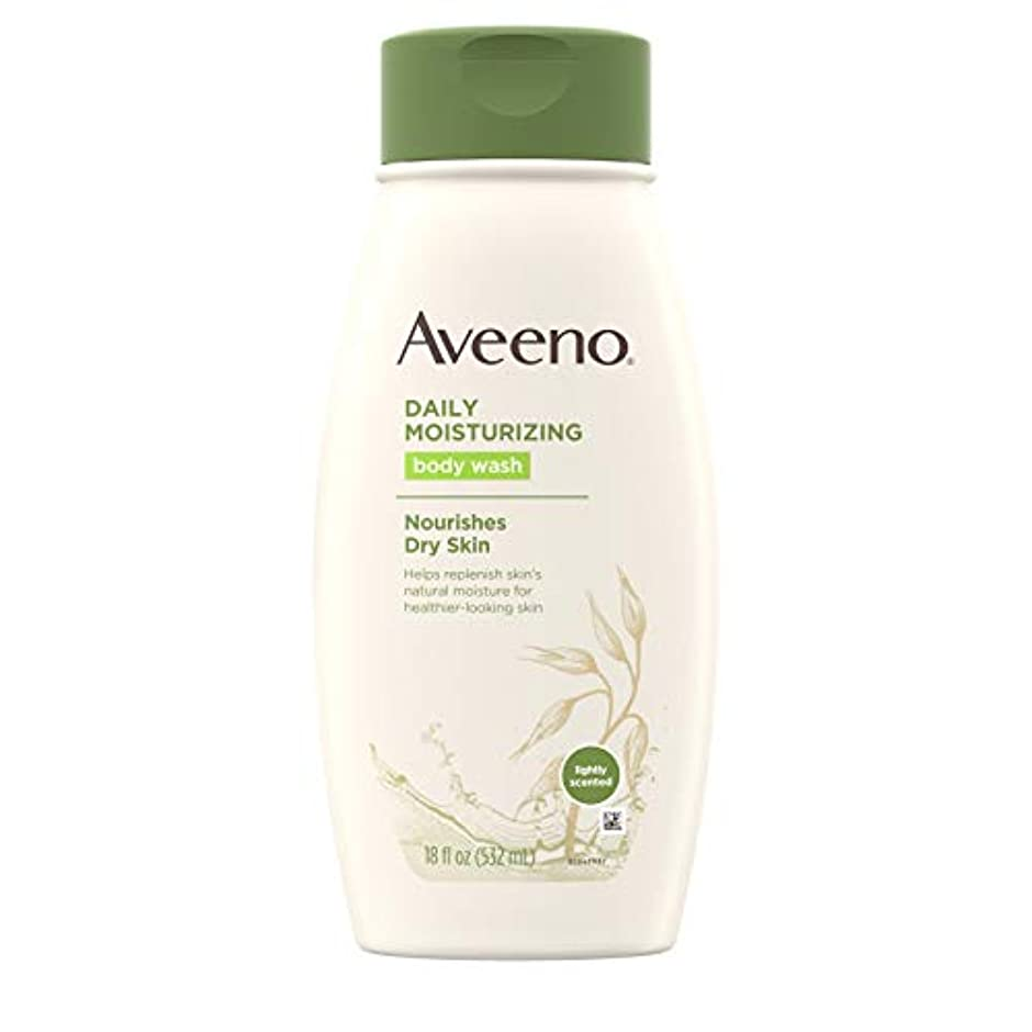 船上パフまたはどちらかAveeno Daily Moisturizing Body Wash - 18 Oz by Aveeno