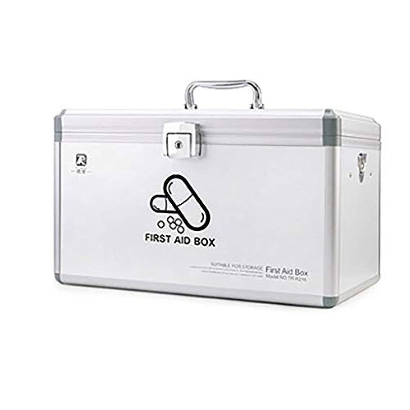 ダルセットパラシュートグリップKKYY メディシンボックスポータブル救急箱ハンドル付き大家庭、旅行、職場向けの単層医療(ピンク、シルバー)