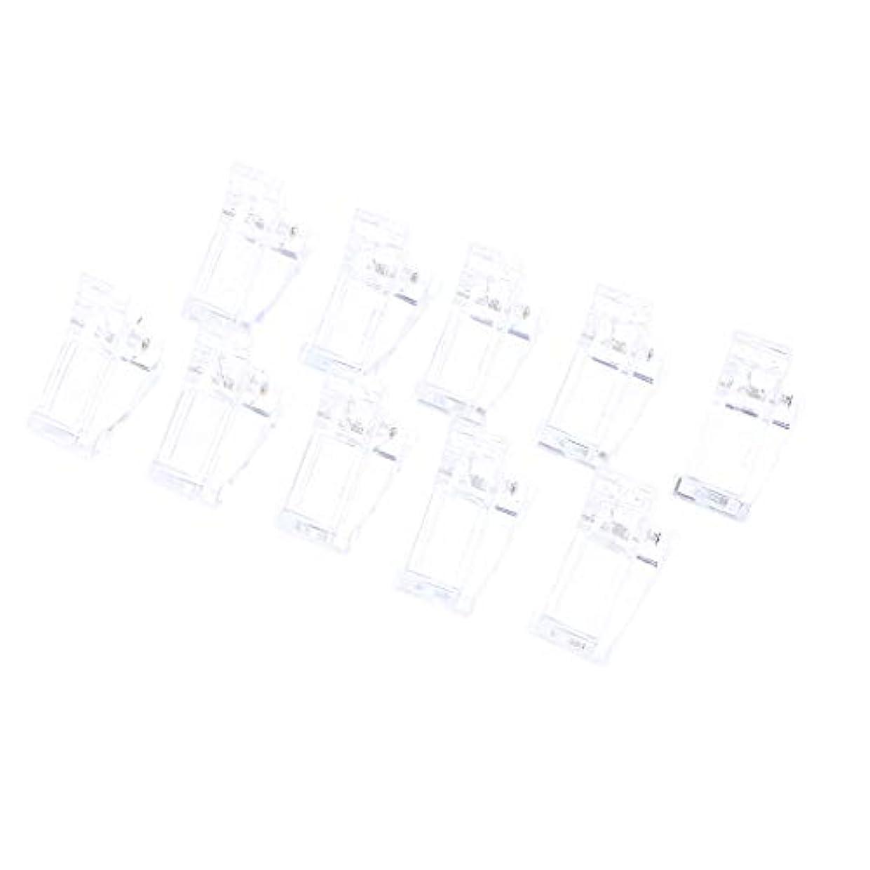 ラブ一月スワップ10ピース/セットポリゲルクイックビルネイルアートのヒントクリップ爪用 - UV Ledネイルプラスチックアシスタントツール