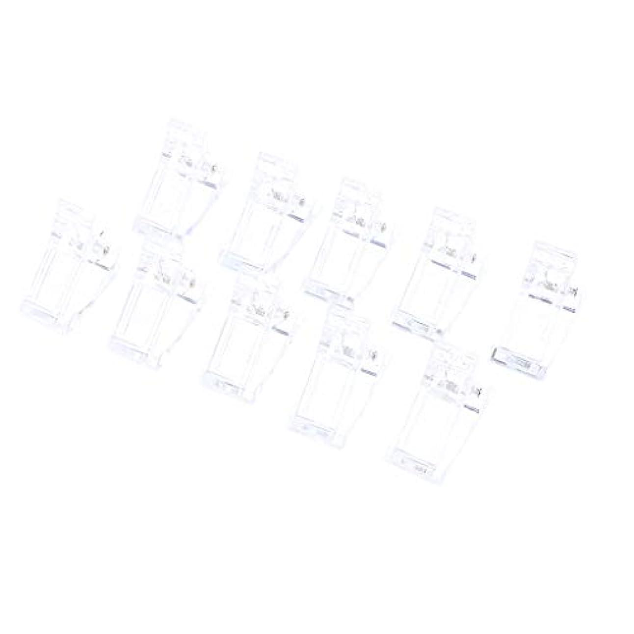 罪カイウスソーダ水10ピース/セットポリゲルクイックビルネイルアートのヒントクリップ爪用 - UV Ledネイルプラスチックアシスタントツール