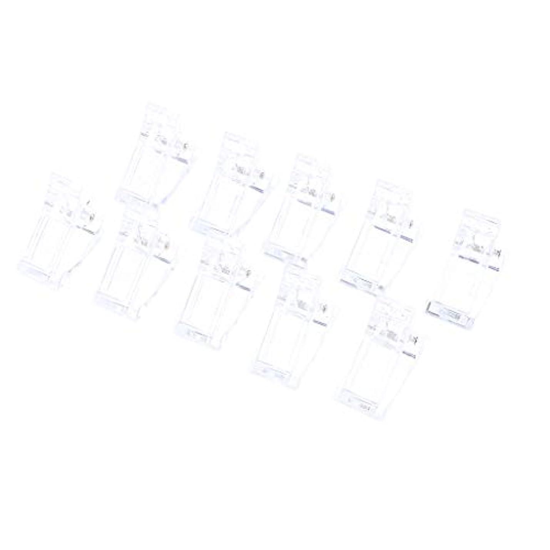 インタビュー足後ろ、背後、背面(部10ピース/セットポリゲルクイックビルネイルアートのヒントクリップ爪用 - UV Ledネイルプラスチックアシスタントツール